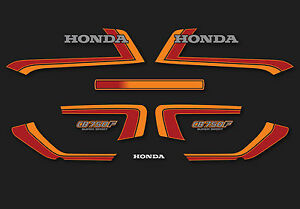 1982 Honda CB750F Super Sport Black decal set