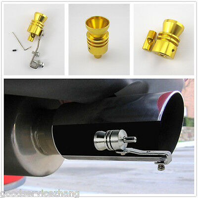 Golden Turbo Sound Whistle Muffler Exhaust Pipe Simulator Whistler for BMW Benz
