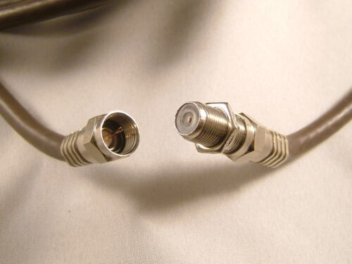20m Marrón Universal RF Coaxial Antena Satélite Sky Cable Tv Alargadera Kit