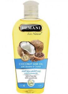Hemani-Huile-de-Noix-Coco-Ricin-Castor-Huile-amp-Sesame-Pousse-Cheveux-Perte