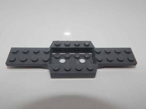 Lego Car Vehicle Base 4 x 12 x 3//4 with 4 x 2 Recessed Center Dark Bluish Gray