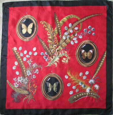 -superbe Foulard En Polyester Tbeg Vintage 88 X 90 Cm