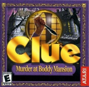 Clue-Murder-at-Boddy-Mansion-Adjustable-challenge-levels-PC-Game-New-CD