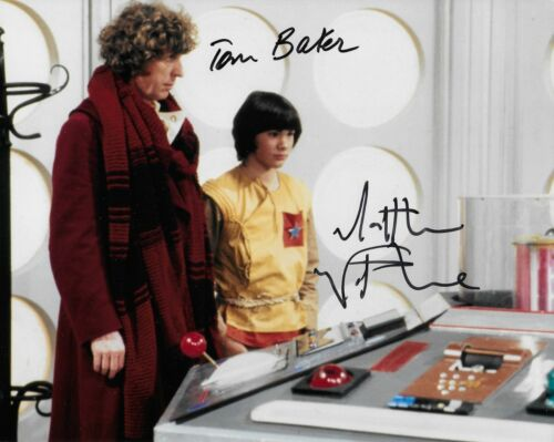 Photo Doctor Who Tom Baker /& Matthew Waterhouse in person signed autograph