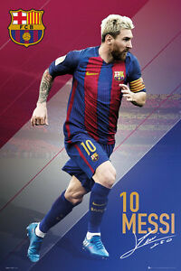 Image Is Loading LIONEL MESSI 2017 BARCELONA POSTER 24x36 FOOTBALL SOCCER