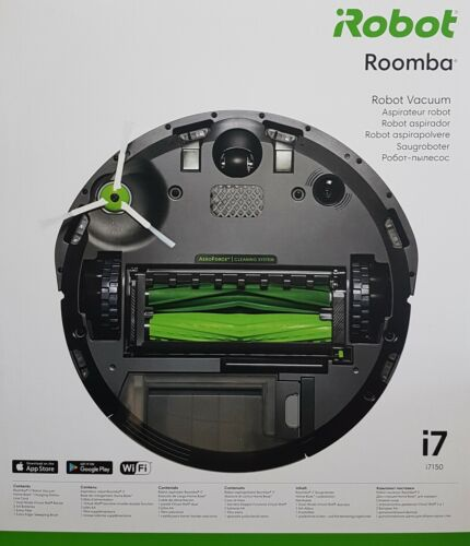 IRobot Roomba i7 i7150 Vacuum Cleaner Robot, SILVER-NEW & OVP, Dealer