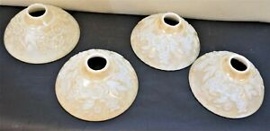 Slip-Shade-Art-Deco-Pearl-Bowl-Dish-Shades-Set-of-4