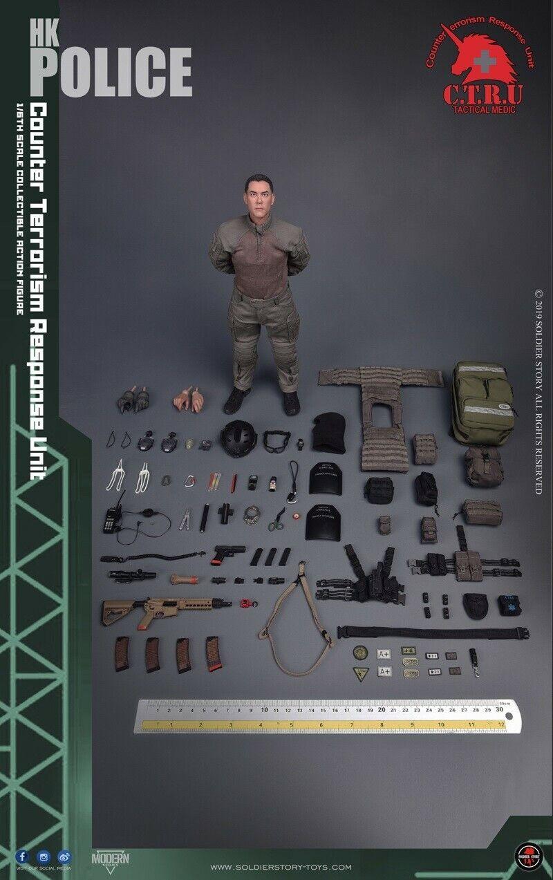 Historia del soldado 1 6 SS116 HK policía-CTRU táctico Medic soldado figura Juguetes Regalo