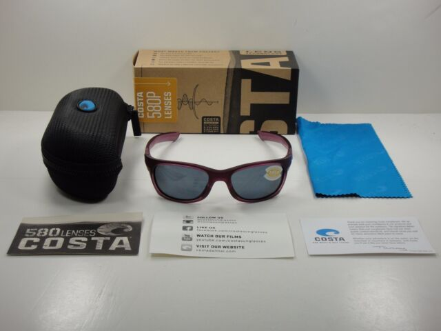 06dbfa1b30a70 COSTA DEL MAR TREVALLY POLARIZED SUNGLASSES ORCHID GRAY 580P LENS GT49 OGP