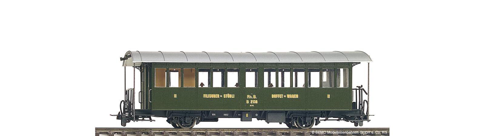 Bemo 3232148 histórico buffetwagen vagón restaurante B 2138 RHB h0m