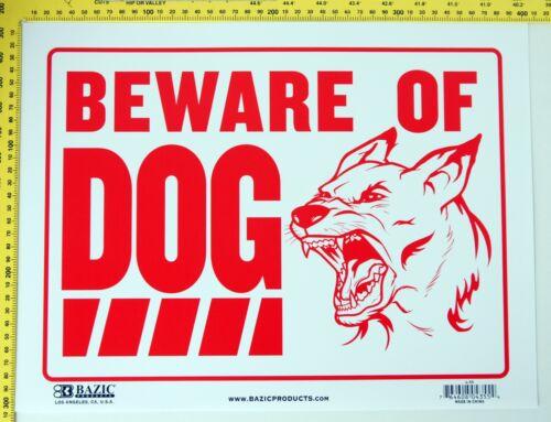 Beware of Dog Sign Warning Dangerous Guard Dog on Premises Plastic Weather Proof