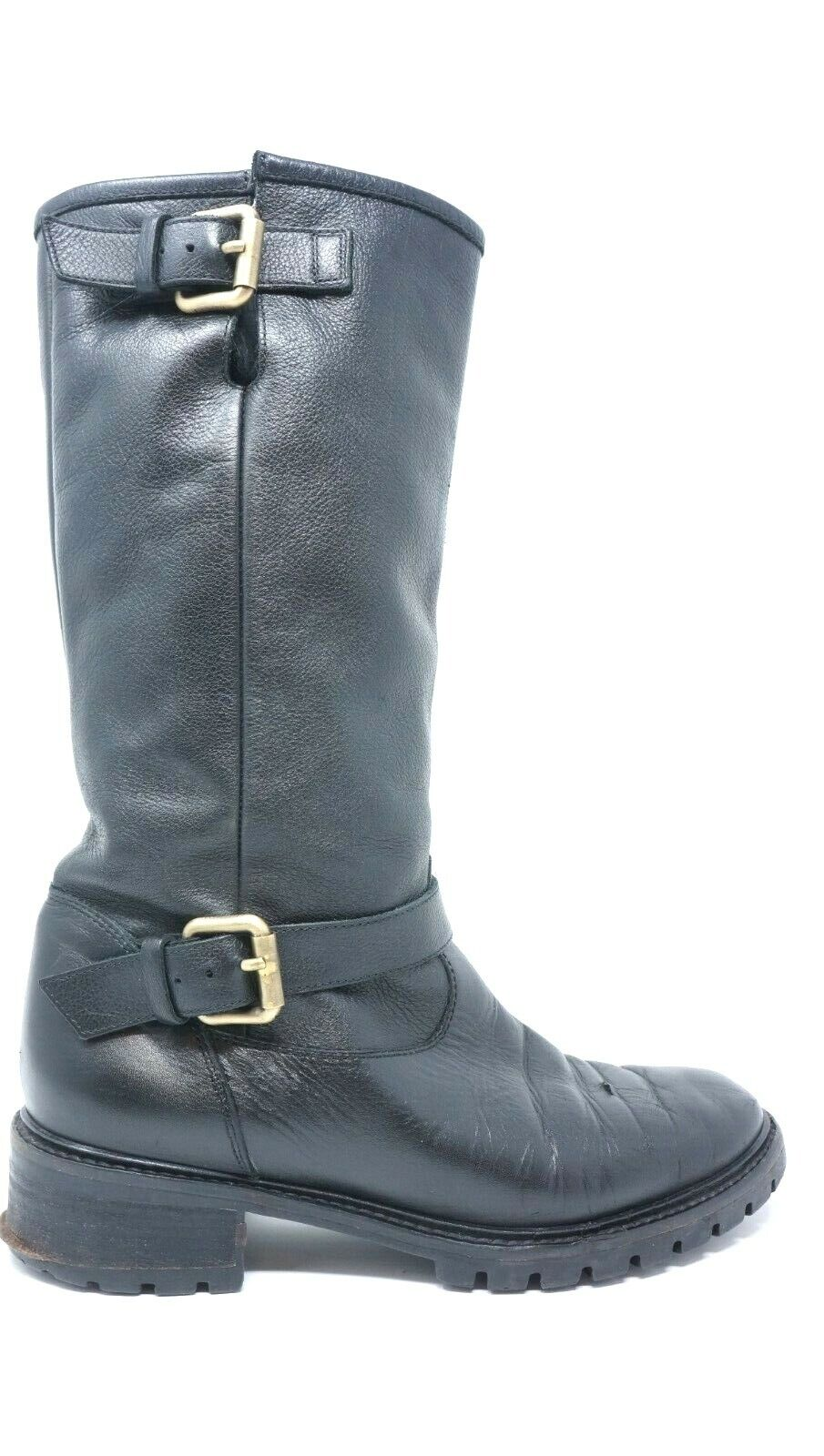 cc459be4c1c FENDI Rabbit Lined Motorcycle Boot Womens 36.5 Black leather SOLD OUT $1200