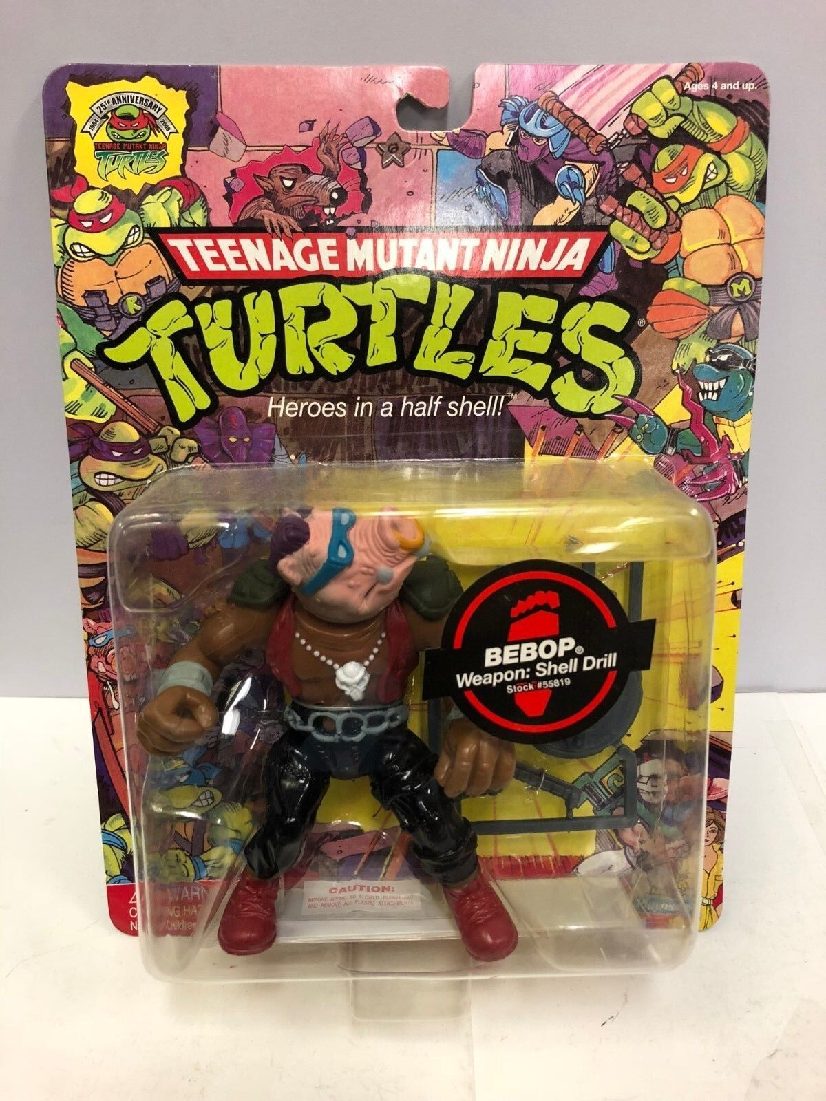 Teenage Mutant Mutant Mutant Ninja Turtles 25th Anniversary Bebop Figure Playmates 2008 6af18e