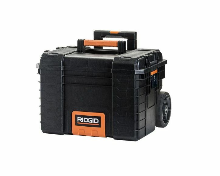 Ridgid Pro Organizer Tool Box 22 in. Portable Chest Toolbox Rolling Cart Storage