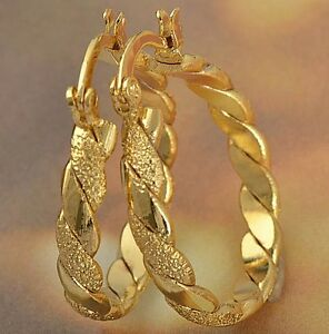 Braided-9K-Solid-Gold-Filled-Womens-Hoop-Earrings-F2227