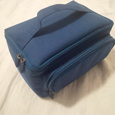 Insulated Eli Lilly Insulin Medication Travel Bag Case blue with three slots