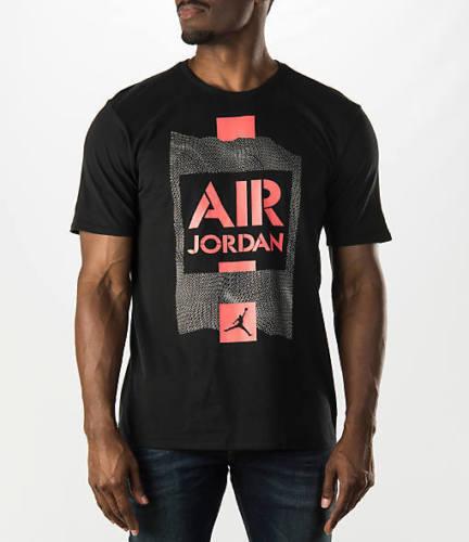 2fab316660d099 Men s Air Jordan 658558-010 AJ Retro 5 V Stencil Tee Black Infrared 23  Regular XL for sale online