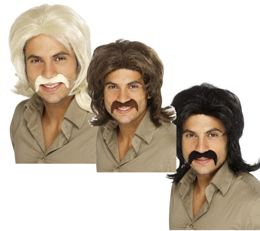 Cowboy Bart Kunstbart Braun Schnurrbart Westernheld Moustache Wegelagerer Oliba