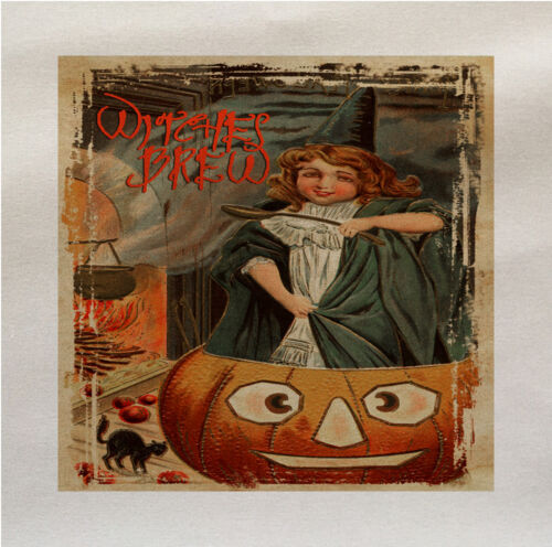 witches brew Halloween Panel Make A Cushion Upholstery Craft