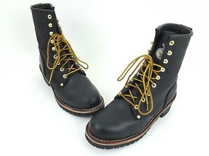 4425d32c76a Georgia Boot Steel Toe Logger Work Boots Mens Size 9.5W Wide Black ...