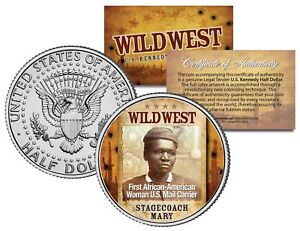 STAGECOACH-MARY-Wild-West-Series-JFK-Kennedy-Half-Dollar-U-S-Coin