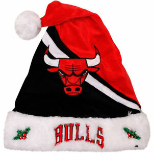 Chicago Bulls Team Logo Holiday Plush Santa Hat NEW! Christmas Swoop ... 3a4850646