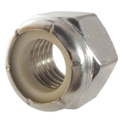 6-32 NM Nylon Insert Hex Lock Nut 18 8 Stainless Steel Black Oxide and Oil Pack of 100