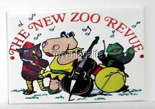 "THE NEW ZOO REVIEW  Fridge MAGNET  2"" x 3"" art NOSTALGIC VINTAGE"