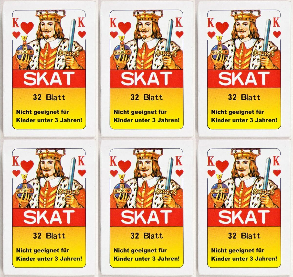 144 x Skatkarten Skatkarte Spielkarte 32 Blatt Blatt Blatt Skat Karten Französische Blatt a420d5