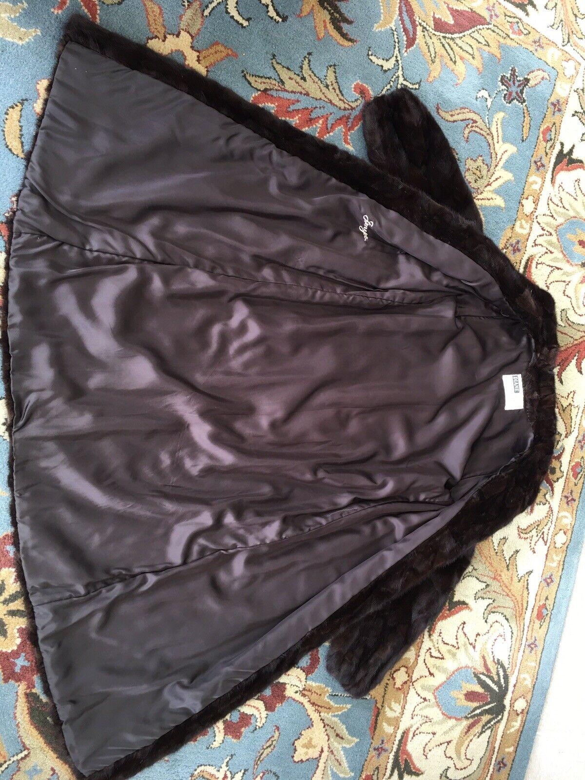 """Dark Brown Mink Fur Coat Full Lenght  """"Diane Furs… - image 8"""