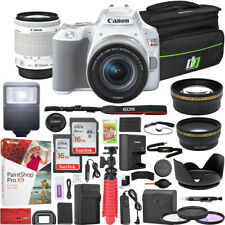 Canon EOS Rebel SL3 DSLR Camera 18-55mm f3.5-5.6 IS STM Lens White 16GBx2 Bundle