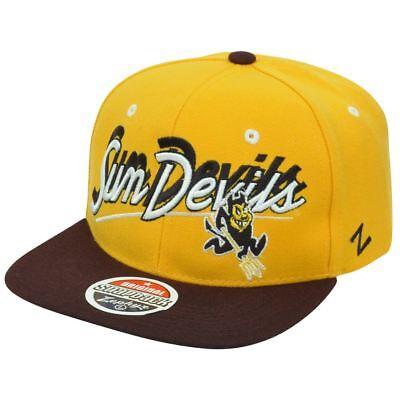 Ncaa Arizona State Sun Devils Shadow Schrift Zephyr Flache Bill Klar Und Unverwechselbar Baseball & Softball Sport