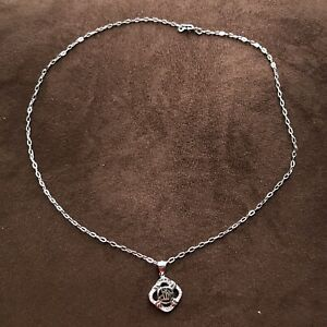 Cubic Zirconia Allah Charm .925 Sterling Silver Pendant