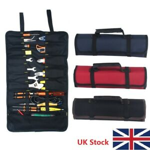 Portable-Canvas-Pocket-Tool-Roll-Spanner-Wrench-Tool-Storage-Bag-Case-Fold-Up-LP