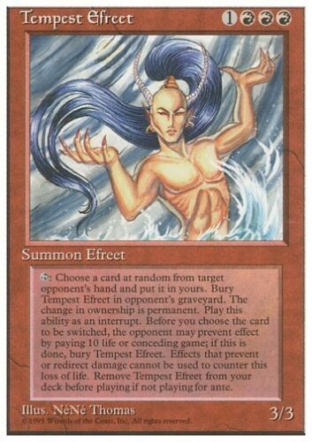 RARE * 4th Edition MTG 4x Tempest Efreet