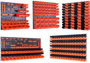 Stapelboxen-Wandregal-Box-Sichtlagerkaesten-Schuettenregal-Lagersystem