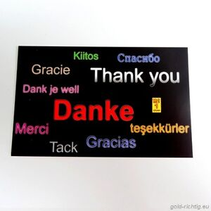 """danke"" Goldbarren 0,0648 Gramm + Zertifikat Gold Barren Geschenk Geburtstag !!! Der Preis Bleibt Stabil"