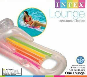 Intex King Kool Lounge W Headrest Water Swimming Pool Raft Float Tube Flotation Ebay