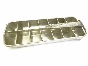vintage used frigidaire refrigerator kitchen ice box metal silver ice cube tray ebay. Black Bedroom Furniture Sets. Home Design Ideas