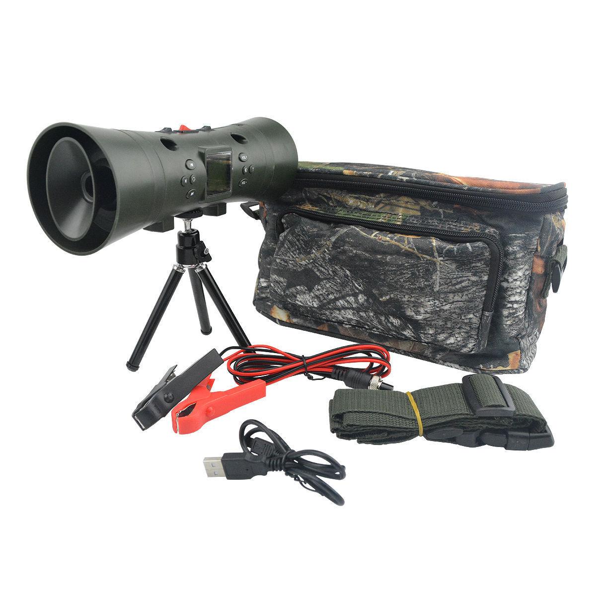 Caza MP3 reproductor Pájaro Llamador 35W 130dB construido en los altavoces Doble con Bolsa De Trípode
