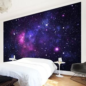 vlies tapete foto tapeten wand deko galaxie milchstra e weltall universum sterne ebay. Black Bedroom Furniture Sets. Home Design Ideas