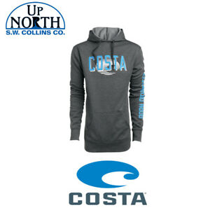 Costa-Del-Mar-Monterey-Hooded-Gray-Sweatshirt-Various-Sizes-Free-Shipping