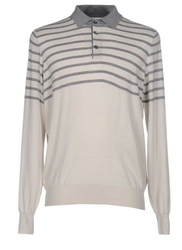 1,500  Brunello Cucinelli Wool and Cashmere Sweater Size 56 or XXL Made in