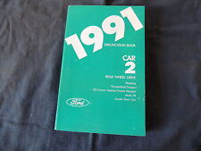 Datenbuch 1991 Ford Mustang Thunderbird Cougar Crown Victoria Mark 7 Lincoln Tow