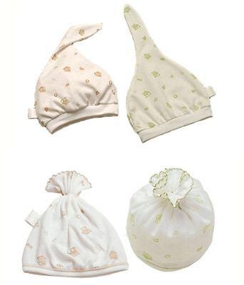 2 Cappellini Cuffiette Cappelli Neonato Caldo Cotone 100% Pair Newborn Baby Caps Lustro