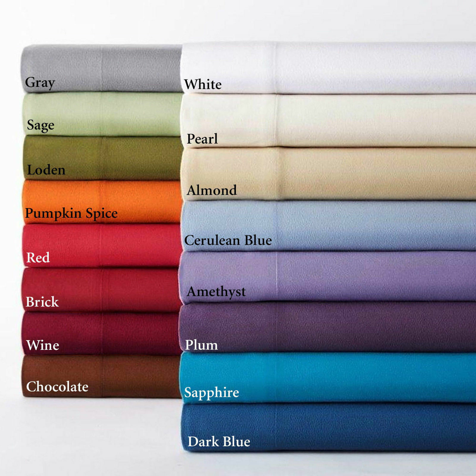 1000TC 100%EGYPTIAN COTTON 4 PC SHEET SET BRIGHT SOLID COLORS ALL SIZES
