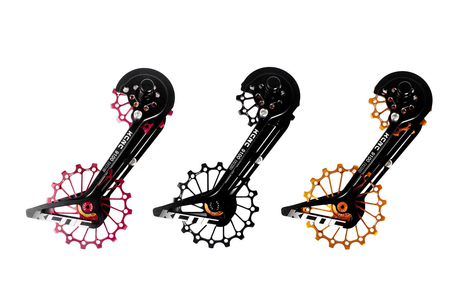 KCNC Carretera Bicicleta Bici Jaula de sistema de de de polea de gran tamaño para Shimano r9100 r8000 oro fb144a