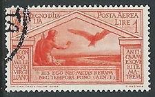 1930 REGNO USATO POSTA AEREA VIRGILIO 1 LIRA - U21