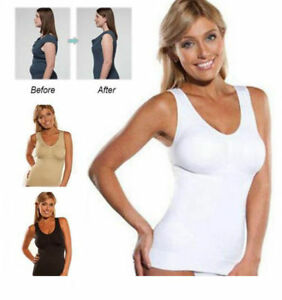 6d991d664344e Women s Slimming Tank Top Tummy Control Seamless Cami Body Shaper ...