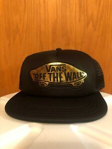 9ac52c61 NWT VANS Off The Wall Gold Classic Patch Beach Girl Trucker Hat Rare ...